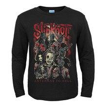 22 дизайна американская группа Slipknot рок черная футболка Полный Длинный Рукав Рубашка тяжелый трэш Металл хлопок camiseta Панк Рокер уличная одежда