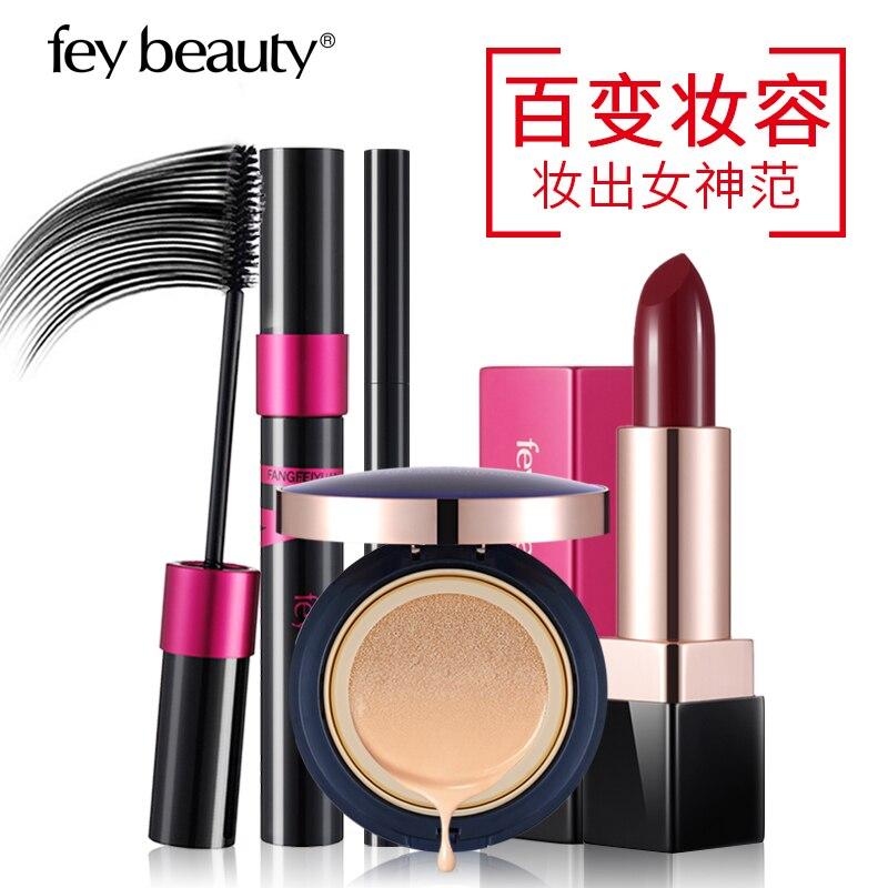 Fey beauty набор инструментов для макияжа 4 шт. Косметика включает тушь для ресниц карандаш для бровей губная помада голый воздух Подушка BB крем ...