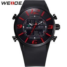 Weide новое поступление мужская спортивные часы водонепроницаемые платье аналоговый цифровой подсветка дисплея кварцевый механизм военные часы для мужчин