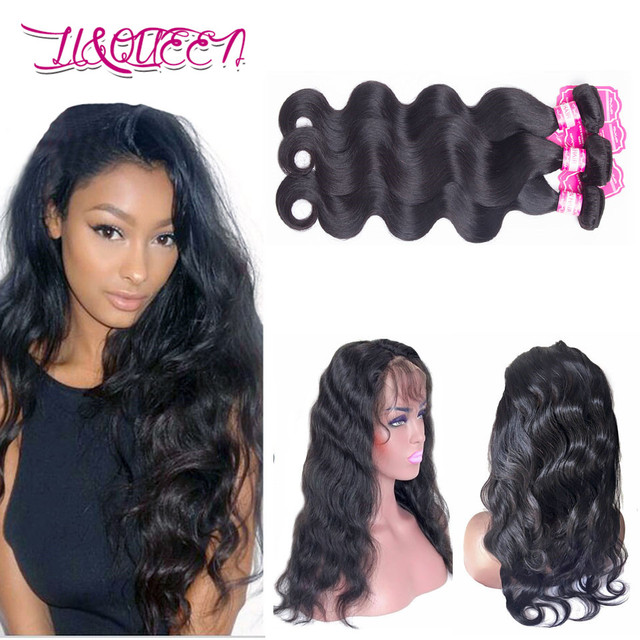 Indian Lace Frontal Closure With Bundles Body Wave Human Hair With Closure 360 Pre Plucked Lace Frontal With Baby Hair Body Wave