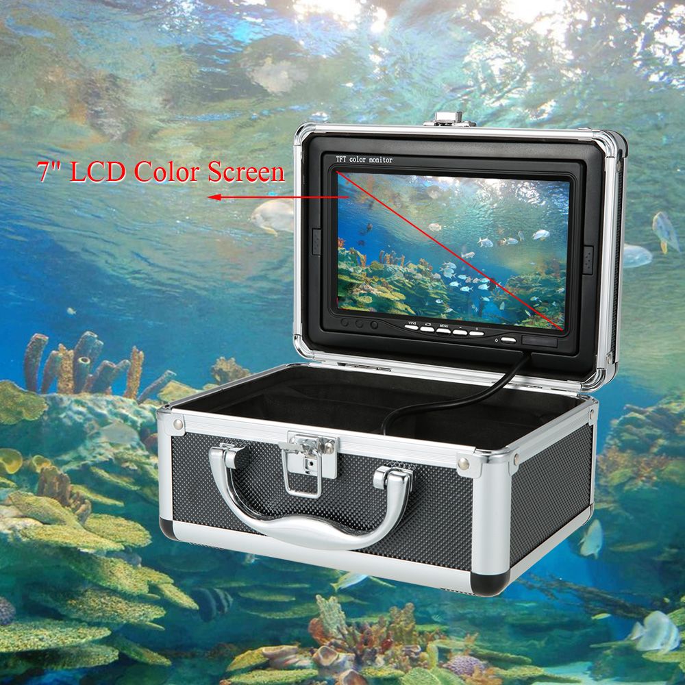 7'' Color Digital LCD Fish Finder  HD 1000TVL 120 Degree Wide Angle 12LED Fishing Camera Fishfinder Underwater Fishing Camera
