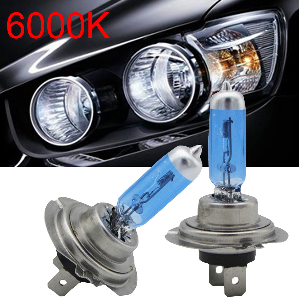 2×H7 100W 6000K Xenon HID Super White Car Lamps Headlight High Power Bulbs 12V