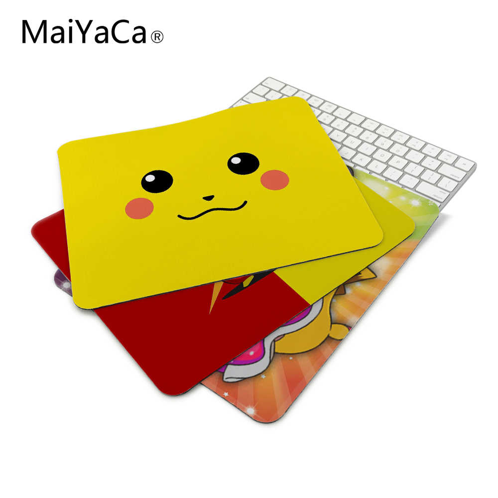 MaiYaCa New Arrivals LuxuryPark PIKACHU POKEMON SIMPLE BACKGROUND Mouse Mats Anti-Slip Rectangle Mouse Pad