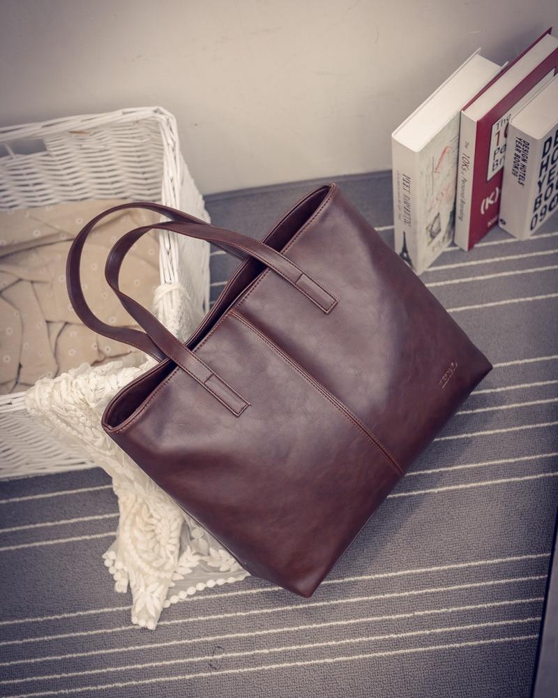 Women Scrub Leather Handbag Black Grey Brown Causal Tote Bag Large Capacity Shoulder Bag Luxury Handbags Women Bags Travel Bags
