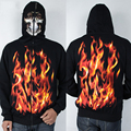 Cool Fancy Fire Skulls Hoody Men Hip Hop Sweatshirt Zipper Jacket Street Wear 3D Sweatshirt Casual Men's Coat