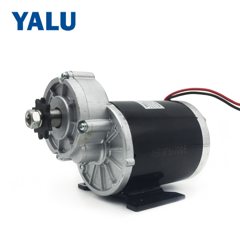 YALU MY1020Z 450W 24V UNITEMOTOR کیت تبدیل E- دوچرخه E-Scooter Elektro Motor Tricycle Electric Gear DC Gear Motor Brush