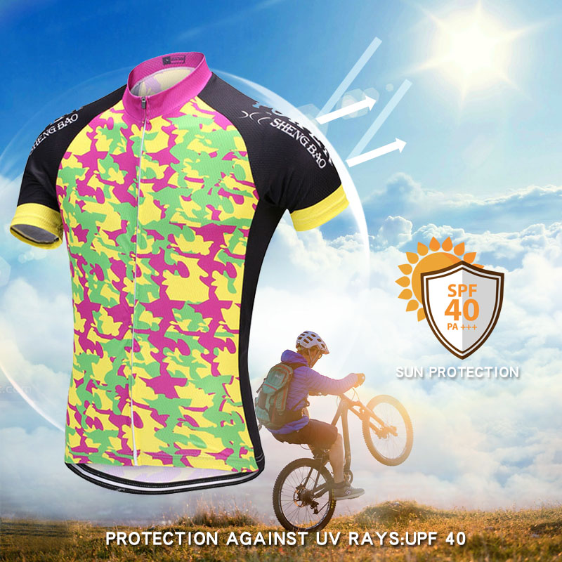 POWER SHENG BAO 2018 Camouflage style Pro Team Cycling Sets Short sleeve  bicycle wear for Cycling Clothing-in Cycling Sets from Sports    Entertainment on ... ffecc8dc1
