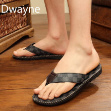 2019 New Summer Men Flip Flops High Quality Beach Sandals Anti-slip Gentlemen Outdoor Slippers