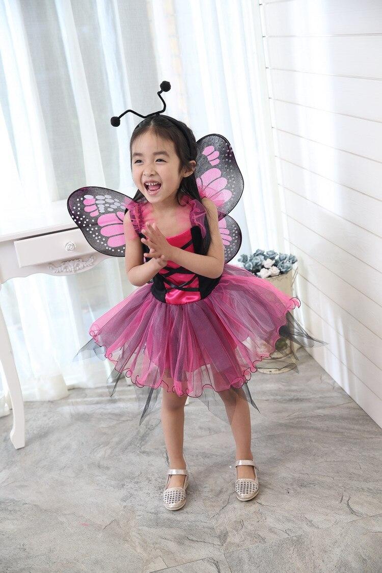 Free shipping children girls pink/green/blue/yellow fairy tutu dress cosplay dress with