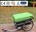 20 inch Two Air Wheels Aluminum Alloy Frame Fold Bicycle Cargo Trailer With Rain Cover