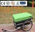 20 polegada Duas Rodas de Alumínio Frame Da Liga de Bicicleta Dobra de Ar Reboque de Carga Com Capa de Chuva