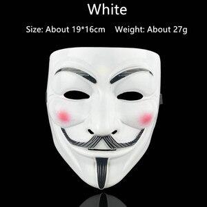 Image 2 - 1PCS מסיבת מסכות V עבור Vendetta מסכת אנונימי גאי פוקס מפואר למבוגרים תלבושות אבזר קוספליי ליל כל הקדושים מפלגה מסכות