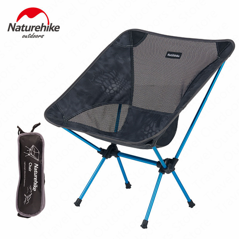 Naturehike Fishing Chair Portable Folding Outdoor Camping Chair Travel Picnic Camping Ultralight Beach Moon Chair NH15Y012-L