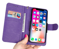 Universal Water Wave Lines Genuine Leather Flip Wallet Case For Huawei P10 P20 Lite P20 Pro Mate10 Mate20 Pro Honor 8 9 10 Lite