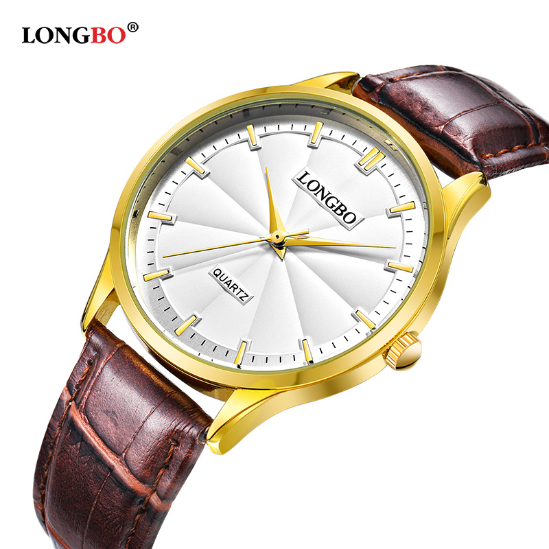 LONGBO Luxury Couple Watch Gifts Simple Design Analog Watches Men Women Waterproof Lovers Quartz Wristwatch Montre Hombre 80293