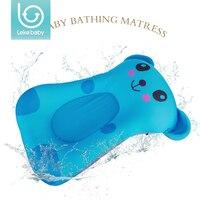 Lekebaby Foldable Baby Bath Mat Cushion Lovely Cartoon Design Bath Tub Pad Safety Baby Shower Bath Antiskid Cushion Bathing Net