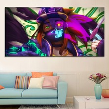 Kda Akali League of Legends Painting On Canvas Print Type And The Wall Decorative Artwork 1 Panel Style Game Large Poster