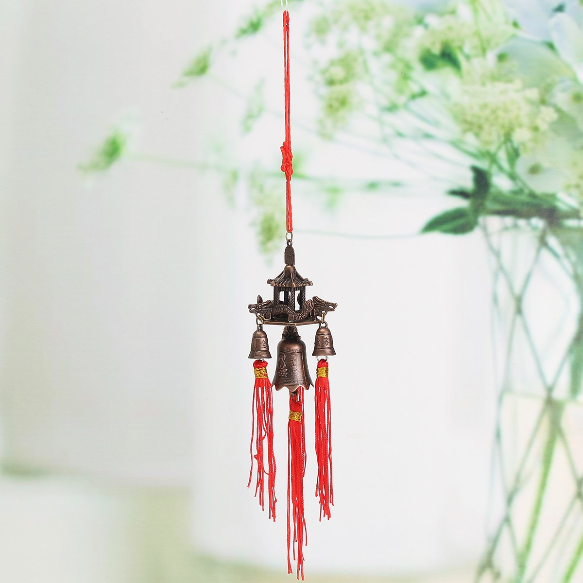 Hanging wind chimes temple roof bell buddhism lucky feng shui hanging wind chimes temple roof bell buddhism lucky feng shui chinese knot blessing good luck home decor symbolism in wind chimes hanging decorations from buycottarizona Choice Image