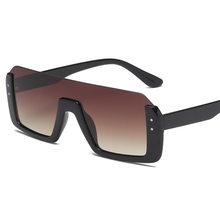Trendy Metade Armação Sem Aro óculos de Sol Quadrados Mulheres 2018 Moda NX  Claro Marca Designer óculos de Sol Para O Sexo Femin. 885b27bf84