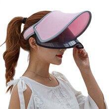 Женские летние солнцезащитные защитные шапочки двойной слой прозрачный пустой Топ солнцезащитная Кепка FDC99