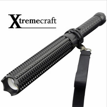 Xtremecraft Powerful telescoping led cree xml t6 flashlight tactical torch baton flash light self defense 18650 OR AAA