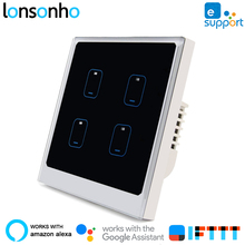 Lonsonho Smart Wifi Switch eWeLink EU UK 1 2 3 4 Gang Works With Alexa Google Home Mini Assistant Automation