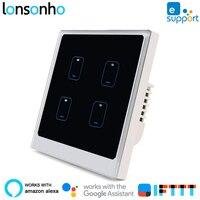 Lonsonho Smart Wifi Switch eWeLink EU UK 1 2 3 4 Gang Works With Alexa Google Home Mini Assistant Smart Home Automation