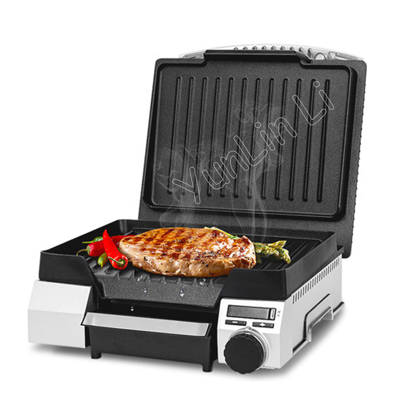 Small Electric griddles Professional non-stick pan steak machine Food Barbecue machine Stainless steel housing