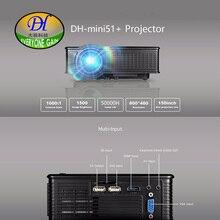 Todos Ganan 2017 Nueva Mini51 + 1500 lúmenes Proyector Portátil Soporte HD 1080 P de Cine En Casa Proyector Móvil 40-150 pulgadas de Imagen