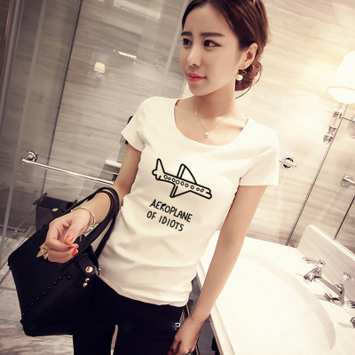 CPI Airplane Print Women tshirt Cotton Casual Funny t shirt For Lady Top Tee Hipster Tumblr Drop Ship