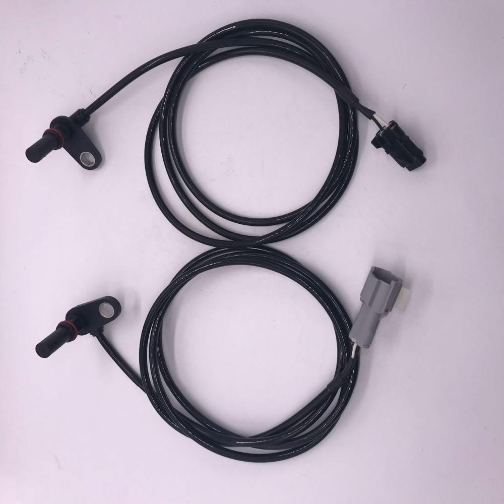 2 pçs novo abs sensor de velocidade da roda mk585279 + mk585280 traseira esquerda e direita para mitsubishi fuso canter prestij furo/5