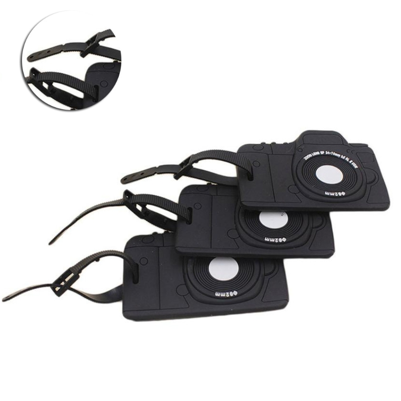 THINKTHENDO Fashion Camera Shape Suitcase Luggage Tags Name AddressHolder Holiday Identifier Label for Men Women ...