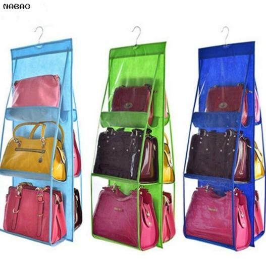 NABAG 더블 사이즈 6 포켓 수납 가방 방진 핸드백 지갑 - 집안에서의 조직 및 보관