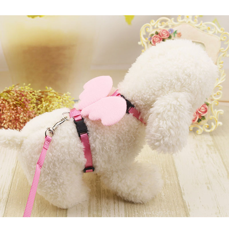 HSWLL Pet Leash Angel Wings Back Wings Pet Leashes New Pet Supplies