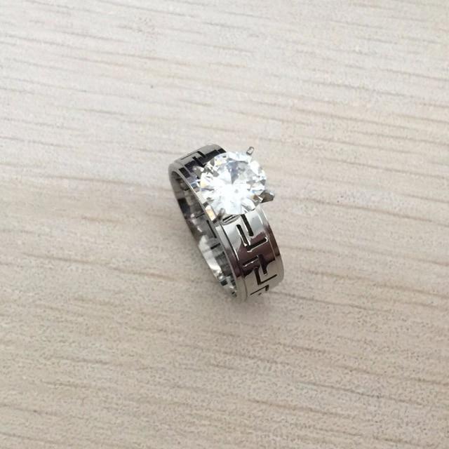 Punk Style 1 2ct Zircon White Gold Rings For Women Greek Wedding