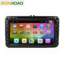 Bonroad Android 6.0 Ram2G rom32GB Quad Core 1024*600 2Din Coche DVD Navegador GPS Radio Reproductor de Red de Color Verde Para VW De Octivia