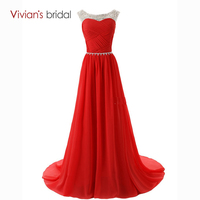 Vivian S Bridal Sexy Lace Up Vestido De Fest Cheap A Line Evening Dresses Beadings Scoop