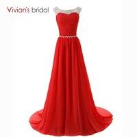 Vivian S Bridal Sexy Lace Up Vestido De Fest Cheap A Line Evening Dresses Beadings Scoop