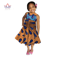 kids african clothing DashikiTraditional Summer Dresses Matching Africa Print Dresses girl Summer cotton cloth sleeveless WYT09