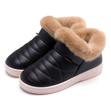 Designer Ugs Australia Soft Plush Winter Ankle Snow Boot Women Flat fur Ladies Casual Shoes Leather Stitching Warm Female Shoes
