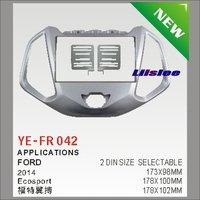 Liislee For Ford Ecosport 2010~2015 Car Stereo Radio Fascia Plate Panel Frame Kit / Stereo Facia Surround Install Trim Fit Dash