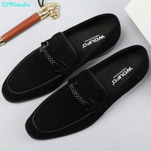 QYFCIOUFU New Arrivals Men Black Brown Casual Shoes Genuine Leather Slip-on Men Shoes Luxury Designers Italian Wedding Shoes