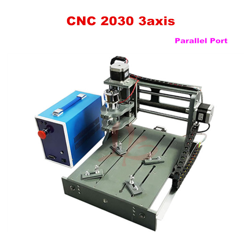 DIY mini cnc router 2030-parallel port 3axis cnc engraving machine mini cnc router machine 2030 cnc milling machine with 4axis for pcb wood parallel port