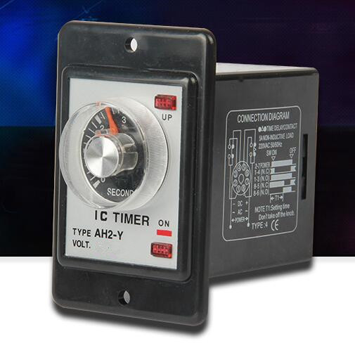 Power on delay timer time relay 0-60 seconds panel installation AH2-Y hhs6a correct time countdown intelligence number show time relay bring power failure memory ac220v