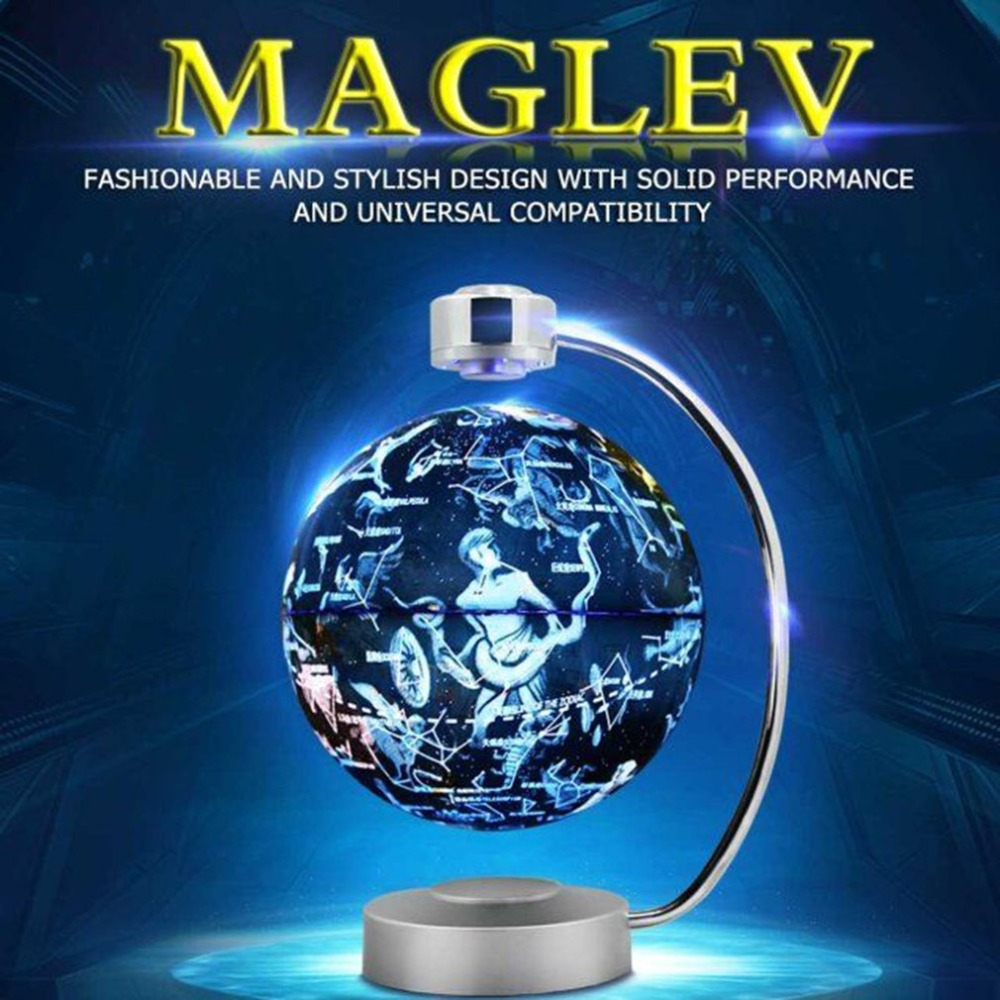 8 Inch Magnetic Levitation Globe With LED Light Electronic Floating Globe Home Bedroom Study Room Decoration US EU UK AU Plug8 Inch Magnetic Levitation Globe With LED Light Electronic Floating Globe Home Bedroom Study Room Decoration US EU UK AU Plug
