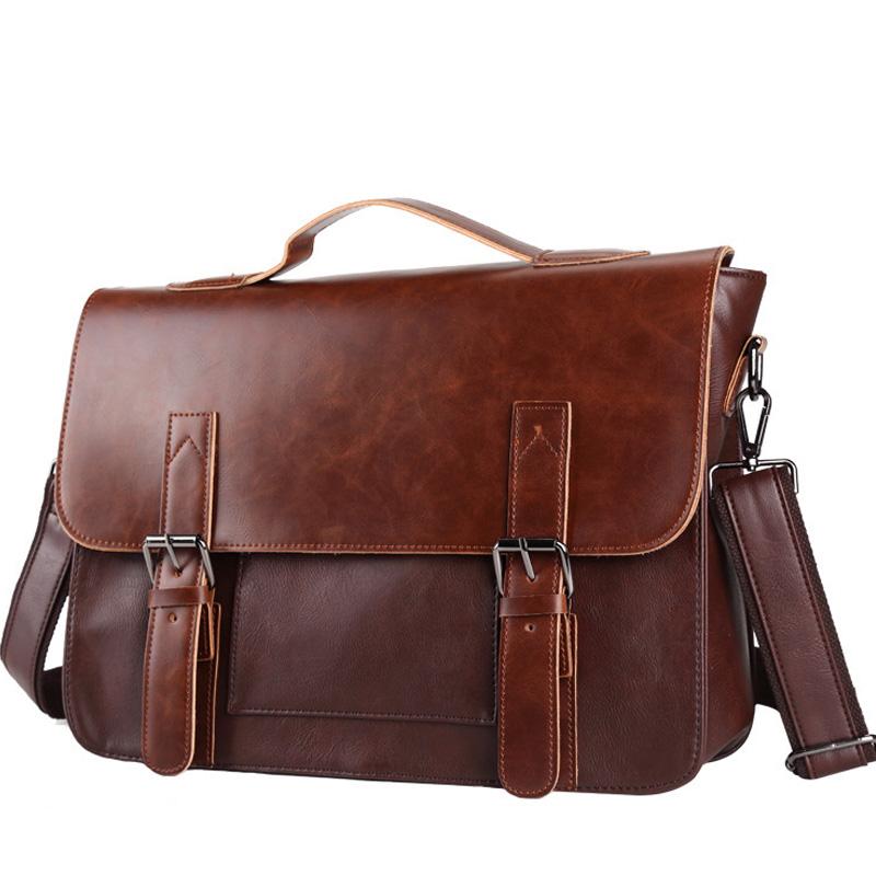 Men Briefcase Shoulder Bags Men's Messenger Bag Casual Business Laptop Male Brand Designer Handbag Simple Crossbody Bag XA226ZC