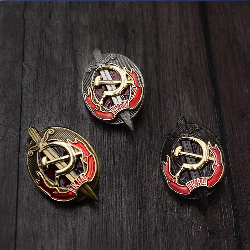 Usss Commissariat populaire affaires intérieures médaille du KGB ex-Union soviétique début de l'organisation secrète staline époque bouclier Badge