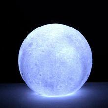 Moon светильник лунный свет ночной Светильник земли многоцветный 3D принт Яркость светодиодный луна светильник творческий настольная лампа