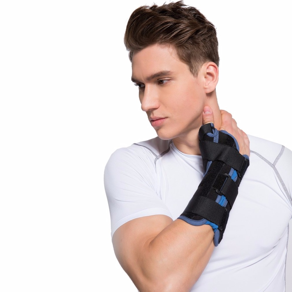 Adjustable Breathable Lightweight Wrist Brace Wrist Support with Thumb Limbs Immobilizer Arthritis Pain Relief
