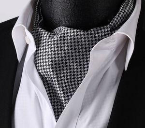 Image 3 - Men Ascot Polka Dot Floral Wedding Party  Formal Cravat Ascots silk Self British style Gentleman Neck Tie Luxury #B3